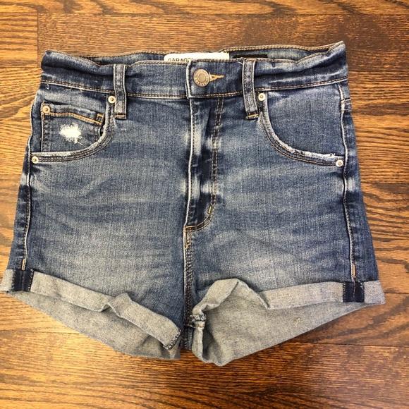 Garage denim hi rise short shorts